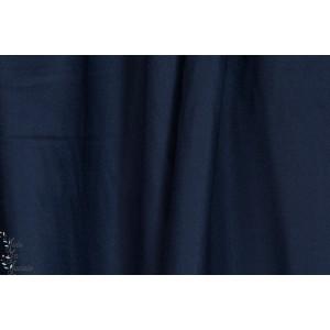 """Tissu """"Crêpe Midnight"""" atelier brunette marine bleu"""