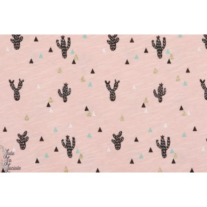 Slub jersey bio  guadelupe  lillestoff cactus rose bio formig mode été femme léger