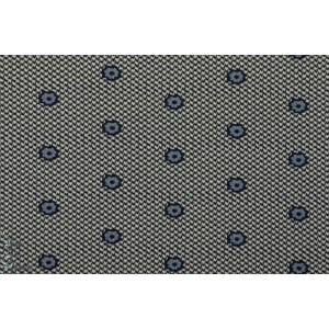 jacquard maille double face Blaw gris bleu graphique