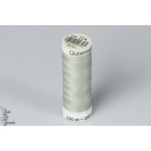 Fil Guterman 200m couleur 224 vert celedon polyester solide tout coudre