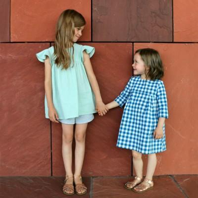Patron robe Blouse FELIZ Straightgrain en anglais fille 3 mois 12 ans