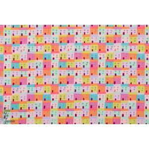 Popeline mes Voisins par Alexander maison naif couleur coton graphique