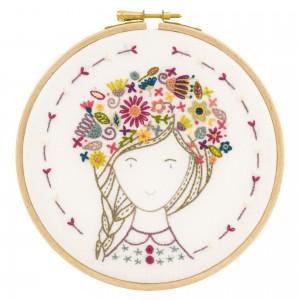 Eglantine, fleur des champs - kit à broder fille fleur nature