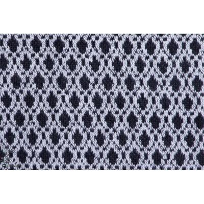 Jacquard Bilberry pitti, losange bleu, Design: Susanne Bochem/ SUSAlabim pour lillestoff.