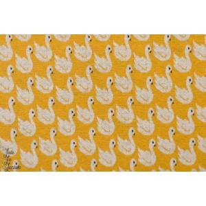 jacquard Bio Swan Lake Moutarde Lillestoff senf jaune