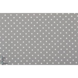 Popeline AGF - Petits Dots Ash  pois gris blanc art gallery angles les petits