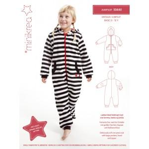 Patron minicréa Jumpsuit - patron en anglais allemand sur pyjama enfant