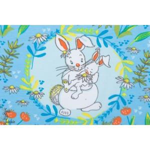 jersey bio  Buntes Glück Lillestoff - lapin colorés - Tante Gisi