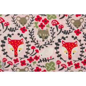 Popeline Bio Birch Folk Friend - Folkland - Birch Fabric
