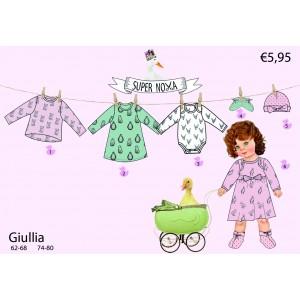 Patron Supernova Giullia stenzo robe bébé fille  anglais facile