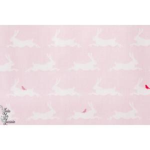 Coton Little Friends lapins roses de la collection «Little Friends» by Gütermann.
