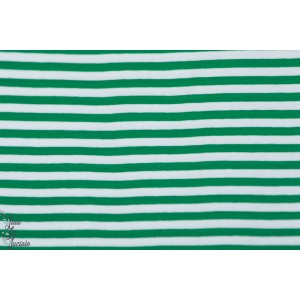 Jersey Rayé Bio Lillestoff vert/blanc