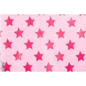 Tissu Imperméable Etoiles, rose lillestoff