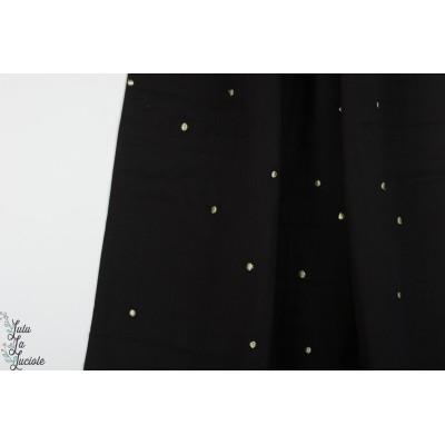 Double Gaze Stardust Black Atelier noir mode brodé or pois femme mode