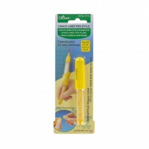Marqueur Jaune Clover 4713 craie crayon tissu fin précis