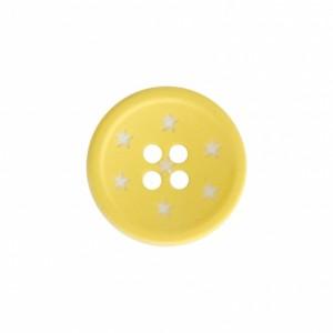 Bouton 12 mm étoile jaune
