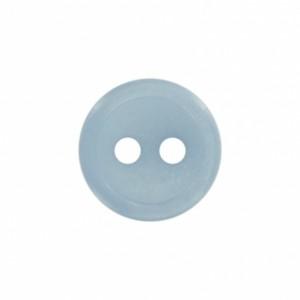 Bouton classique 2 trous 9mm bleu