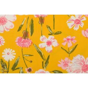 Popeline AGF Perennial Printemps fleur fusion jaune