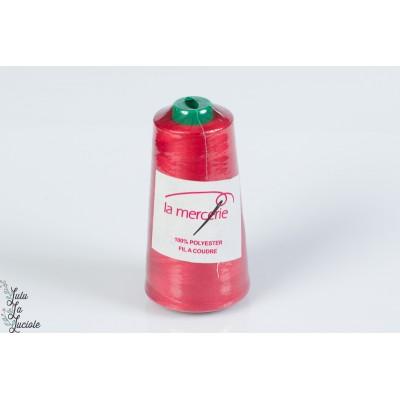 Cône 2500m rouge Polyester la mercerie surjeteuse