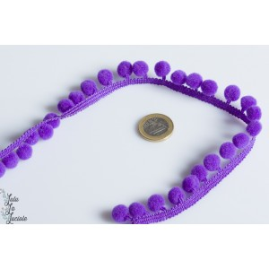 Galon Pompon 18 mm Violet