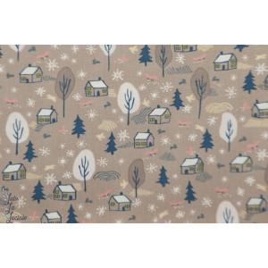 Popeline Dear Stella woodside Peyote 897 - for fox sake renard bois forêt