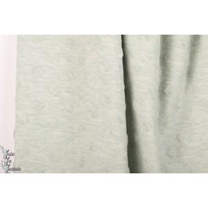 Jersey jacquard Stenzo Vert d'eau texturé