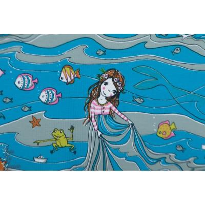 jersey bio Wellentraum Lillestoff  rêve vague SUSAlabim enfant fille mer nager vague bleu