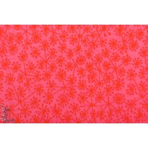 Pusteblumen, pink/orange Jacquard Bio SUSAlabim Lillestoff