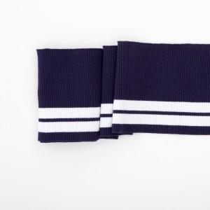 Bord cote rayure marine bleu poignet