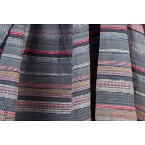 Tissu Lilou12 bleu rayures colorées