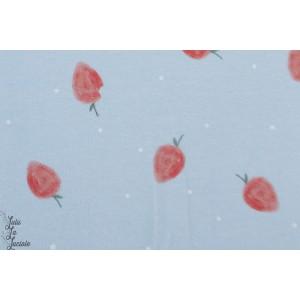 Jersey bio Wilma  ErdbeerLillestoff les fraises de la tortue vintage graphique
