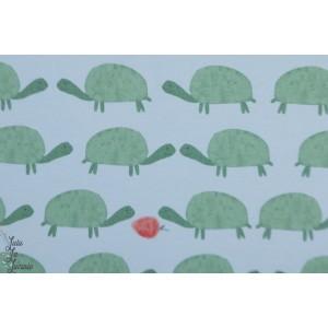 jersey Bio Wilma Lillestoff - tortues et fraise