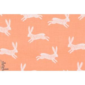 popeline Bunnies 1135, lapins, de la collection Nature Trail de Bethan Janine pour Dashwood Studio