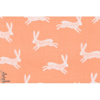 popeline Bunnies 1135, lapins, de la collection Nature Trail de Bethan Janine pour Dashwood Studio