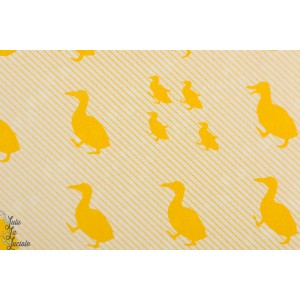 Canvas kokka double face canard jaune