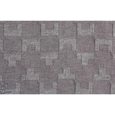 Tissu japonais idéal pour veste ou manteau femme : DOBBY en gris par Kokka