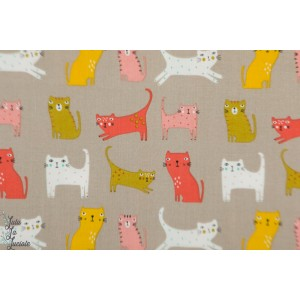 Popeline Cool for Cats 1386 chat patch plaid dahswood studio Sally Payne