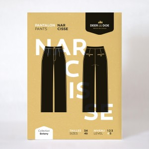 Patron pantalon Narcisse Deer And Doe femme couture mode