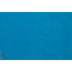 Velours minky ras Hilco turquoise bleu