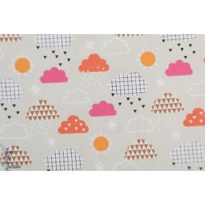 Popeline Clouds Geo Forest 1398 dashwood studio nuage
