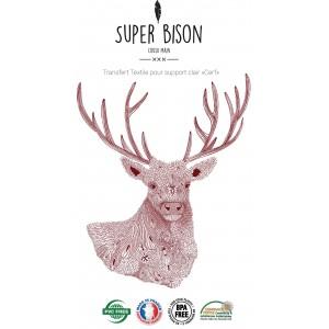 Transfert couture textile  SUPER BISON Cerf