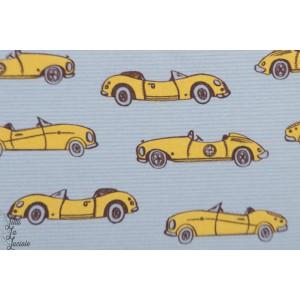Summersweat bio Flotte Flitze graugelb lillestoff SUSAlabim voiture jaune