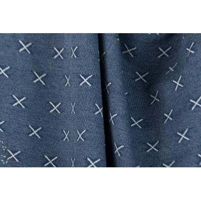 Fantasy knitter croix bleu Stenzo jacquard jersey bleu graphique sweat