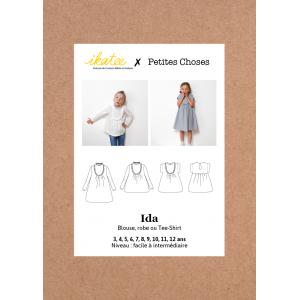 Pochette Patron robe/blouse enfant fille IDA 3/12 ans Ikatee & Petites Choses