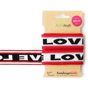 Stripe me glow Hamburger Liebe I love You ruban elastique