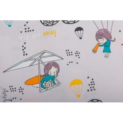 Popeline AGF Hei Sky Lavenderine Sisu lavande apprendre ecole enfant volet ciel