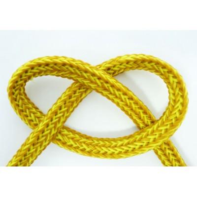Cordon plat chiné couleur jaune hoodie blouson teddy manteau capuche
