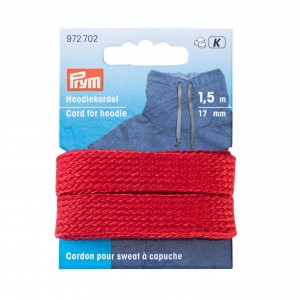 Cordn sweat Capuche 17mm rouge 972702
