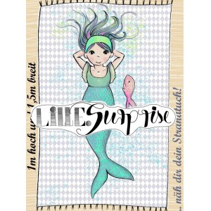 panneau summersweat Bio : Serviette Meerjungfrau 1 SUSAlabim Lillestoff