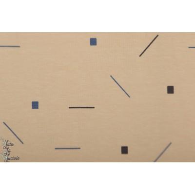 Sweat About Blue Confetti Soft Tone wisj graphique beige mode